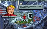 Space Quest V: The Next Mutation DOS A rather rare comment from Roger himself - accompanied by a portrait
