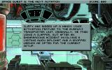 Space Quest V: The Next Mutation DOS Exploring your ship, reading descriptions provided by the game