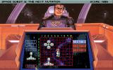 Space Quest V: The Next Mutation DOS Playing the game Battle Cruiser against Captain Quirk!