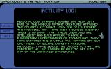 Space Quest V: The Next Mutation DOS Reading the log of a captain, retrieved from a computer on an abandoned planet