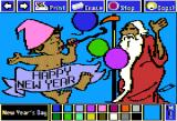 The Electric Crayon Deluxe: Seasons & Holidays Apple II New Year's Day