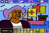 The Electric Crayon Deluxe: Seasons & Holidays Apple II This holiday remembers Christopher Columbus' arrival to the Americas on October 12, 1492