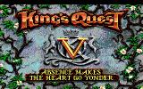 King's Quest V: Absence Makes the Heart Go Yonder! DOS Title screen (EGA/Tandy)