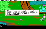 Space Quest: The Lost Chapter Windows Looking at things. These animals are actually running around, making the environment pretty busy