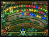 Zuma's Revenge! Zeebo In Level 5, instead of rotating the frog the player has to slide him sideways to throw balls.