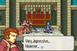 Fire Emblem: The Sacred Stones Game Boy Advance Boss is defeated