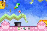 Yoshi Topsy-Turvy Game Boy Advance Blasted into the air