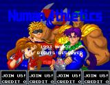 Numan Athletics Arcade Title screen