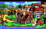 King's Quest V: Absence Makes the Heart Go Yonder! DOS The town (EGA/Tandy)