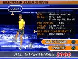 All Star Tennis 2000 PlayStation A male tennis player. Gustavo Kuerten (Guga).