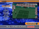 All Star Tennis 2000 PlayStation Season mode. Too many countries, I don't have time for this.