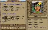 Worlds of Ultima: The Savage Empire DOS Talking to a woman from the local tribe. Conversations are lively and often humorous