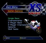 XS Moto PlayStation Main menu.