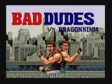 Bad Dudes Zeebo Title screen.