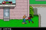 Ultimate Spider-Man Game Boy Advance Fighting a thug
