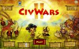 Civ Wars II Browser Start screen