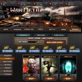 War Metal Browser Armory, Units - Purchase unique units with War Credits.