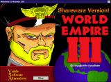 World Empire III Windows 3.x The game's title screen