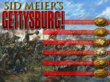 Sid Meier's Gettysburg! Windows Confederate Start Screen
