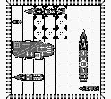 Battleship: The Classic Naval Combat Game Game Boy Later game has bigger ships