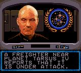 Star Trek: The Next Generation Game Gear Mission briefing from Captain Picard
