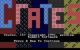 Crates DOS The title screen (EGA graphics)