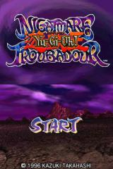 Yu-Gi-Oh! Nightmare Troubadour Nintendo DS Title screen.