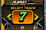 Quad Desert Fury Game Boy Advance Track selection menu
