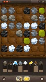 Puzzle Craft Android Advanced mining with coal and silver.