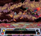 Super Dropzone: Intergalactic Rescue Mission SNES Jupiter, the gas giant.