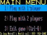 Moraff's Monster Memory DOS The main menu.