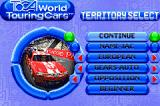 TOCA: World Touring Cars Game Boy Advance Territory Select