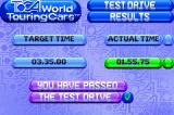 TOCA: World Touring Cars Game Boy Advance You passed the test