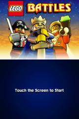 LEGO Battles Nintendo DS Title screen.