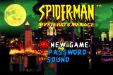 Spider-Man: Mysterio's Menace Game Boy Advance Title Screen