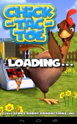 Chick-Tac-Toe Android Title screen