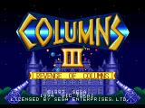 Columns III: Revenge of Columns Genesis Title screen