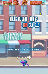 Ninja UP! Android Start of the game, in a street