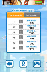 Ninja UP! Android Global leaderboards
