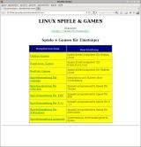 Linux Spiele & Games Linux Overview of the beginners games category. Most sections have further subcategories, however those don't have separate HTML pages and have to be viewed with the browser's file browser instead.