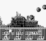 Turrican Game Boy Falling stones