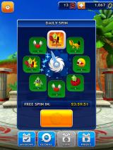 Sonic Dash iPad Learning how to pick one of the eight prizes during the Daily Spin