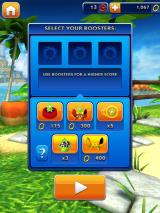 Sonic Dash iPad Learning to begin the run with or without boosters