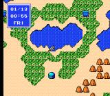 Last Armageddon NES Near a lake. You can change the leading character sprite any time