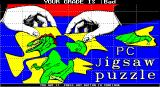 PC Jigsaw DOS The PUZZLE picture completed in EXPERT mode and rated by the game