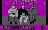 The Big Three DOS The game's title screen