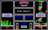 Atomic Tetris DOS The end of a game.