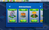 Rollercoaster Tycoon 4 Mobile Android Browsing the attractions.
