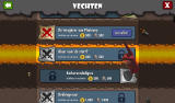 Dungeon Keeper Android Overview of the available raid missions, both offensive and defensive (Dutch version).