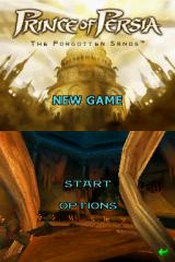 Prince of Persia: The Forgotten Sands Nintendo DS Title/Menu screen.